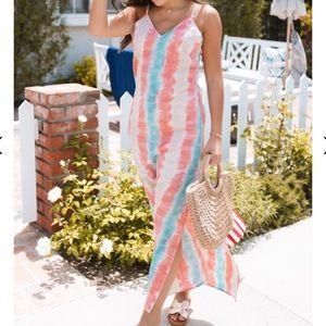 SOLD Amaryllis | Tie Dye Maxi Dress